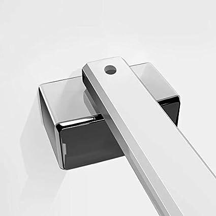 AICA paroi de douche 40x200cm paroi lat/érale /à litalienne en 8mm verre anticalcaire avec barre de fixation 450mm