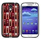 Galaxy S4 Case, Laser Technology for Protective Samsung Galaxy S4 Case Black DOO UC (TM) - Telephone booth Tiling pattern