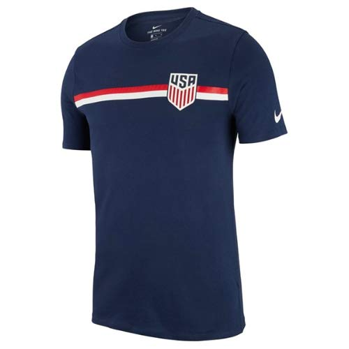 Nike Usa Soccer Training - Nike 2018-19 USA Crest Tee Navy M