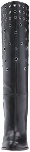 Black Women's West Nine Boot Leather Quatrina wXH7TKSg7q