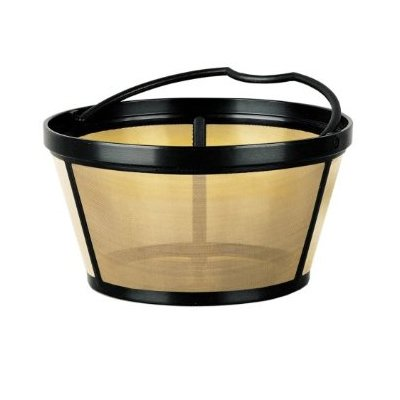 THE ORIGINAL GOLDTONE BRAND Reusable Basket-style 10-12 Cup Coffee Filter with Solid Bottom