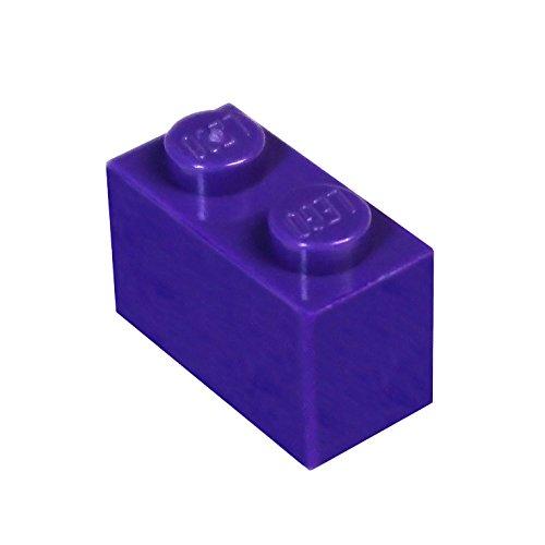 LEGO Parts and Pieces: Dark Purple (Medium Lilac) 1x2 Brick x50