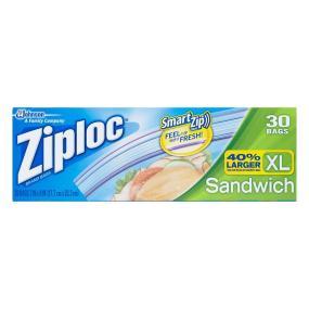 Ziploc Sandwich Bags, X-Large