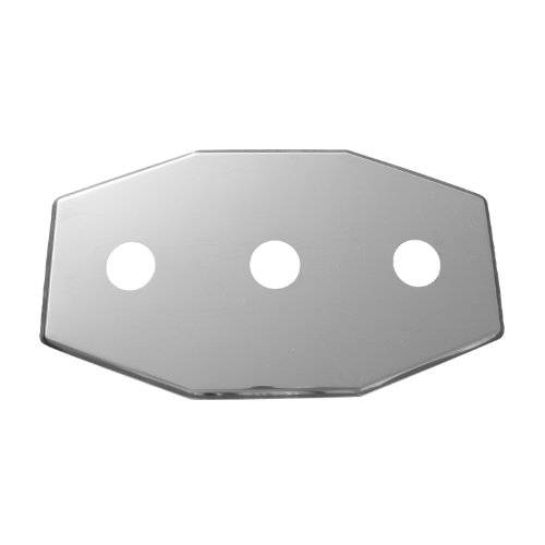 LASCO 03-1654 Smitty Plate, Three Hole, Used to Cover Shower Wall Tile, Stainless Steel