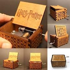 Antiguo Caja De Música De Madera Tallada Mano Cranked Música: Game of Thrones, Harry Potter, Merry Christmas Tema regalo,...