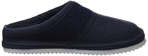 Haflinger Unisex Adults' Sky Low-Top Slippers Blue (Mittelblau 70) wHmZ9mO