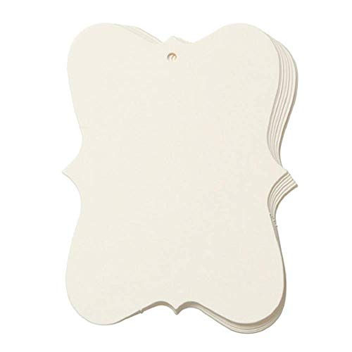 Ivory Fashion Tags by Core'dinations - Large (3in. x 4in., 10 pieces/pkg.)