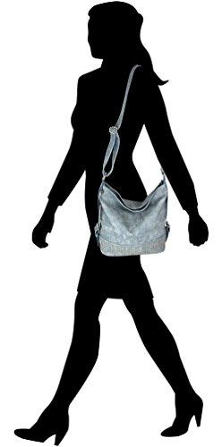 Jennifer Jones - Bolso al hombro de piel sintética para mujer coñac