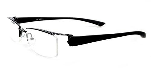 536392d0663 Amazon.com  Agstum Mens Half Rimless Myopia Glasses Frame Magnetic Clip On  Sunglasses (Black frame with 2pcs clip on