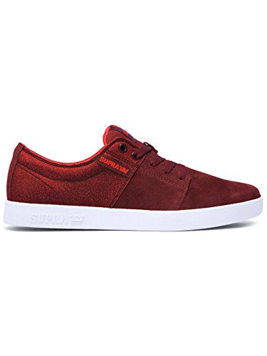 Supra - Stacks II, Senakers a collo basso, unisex Burgundy