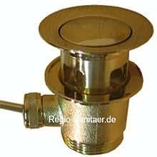 Válvula de drenaje para lavabo o bidé de oro de 24 quilates