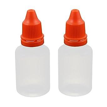 Botella eDealMax 2pcs 20 ml Con gotero de plástico transparente gota de ojos líquido Squeezable casquillo