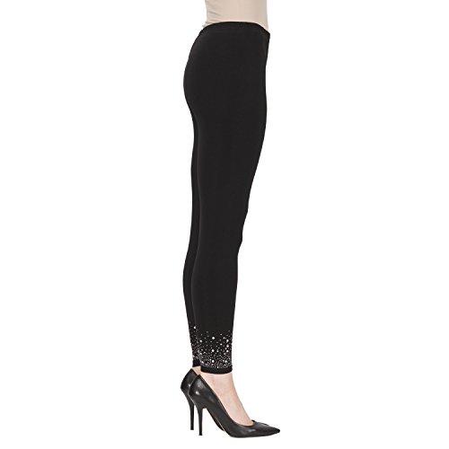 Joseph Ribkoff Silky Knit Black Jeweled Legging - Style 173088 - Size 4 by Joseph Ribkoff (Image #2)
