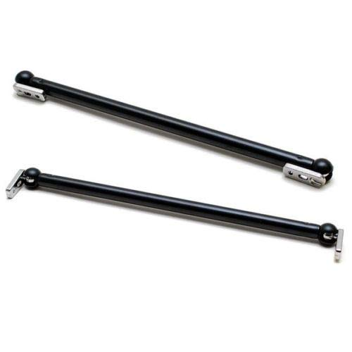 - New 13 Inch Aluminum Boat Windshield Support Brackets (Pair) Color - Black