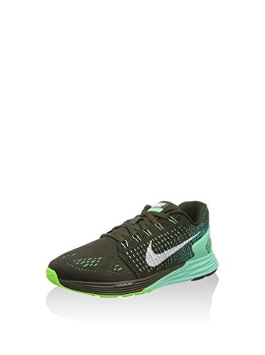Nike Womens Lunarglide 7 Scarpa Da Corsa Sequoia / Bianco-verde Bagliore