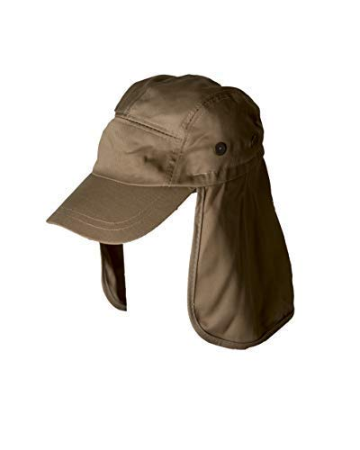 Fishing Cap with Ear and Neck Flap Cover - Outdoor Sun Protection (Khaki)