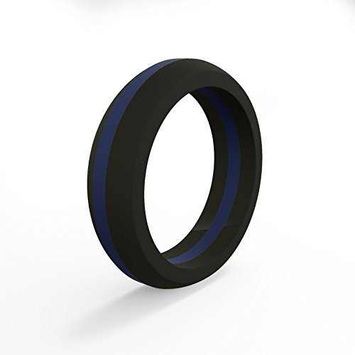 - Qalo Women's Thin Blue Line Classic Silicone Ring Size 04