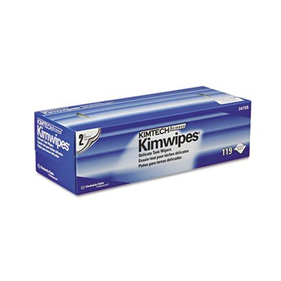 Kimberly Clark 34705 Kimtech Science Kimwipes, 2-Ply, 11.8'' x 11.8'' Wipers (Case of 15 Boxes, 119 per Box)