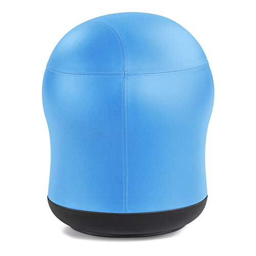 """Safco Products Zenergy Swivel Stability Exercise Ball Chair, 23"""" H, 360-Degree Turn, Blue Vinyl"""