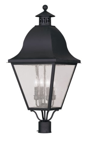 Livex Lighting 2548-04 Amwell 4-Light Outdoor Post Head, Black