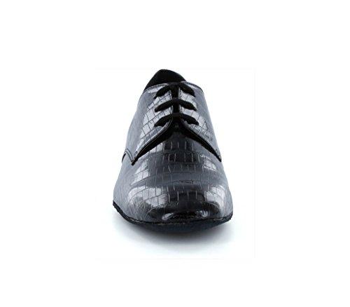 Minitoo Men's JF917507 Polite Party Ballroom Tango Salsa Latin Dance Shoes Black 5eBTloE
