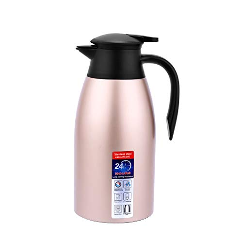 (Coffee Carafe, 68 OZ Thermos Coffee Cold Drink Kettle Household Water Pitcher Bottle Insulated Double Walled Vacuum Kettle (gold))