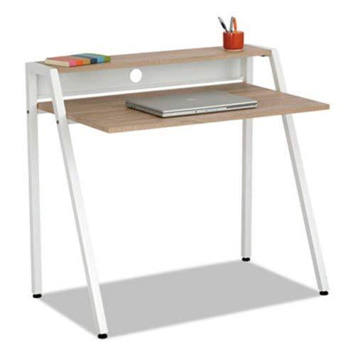 Safco Writing Desk, 37 3/4 X 22 3/4 X 34 1/4, Beech/White