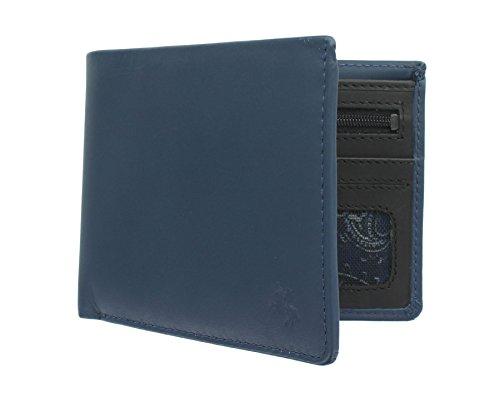 Acier Go 'n' Visconti Rfid Bronzage Cuir Portefeuille Tap Avec En noir Vsl33 Protection Slim Collection Huile Bleu Ctq6f