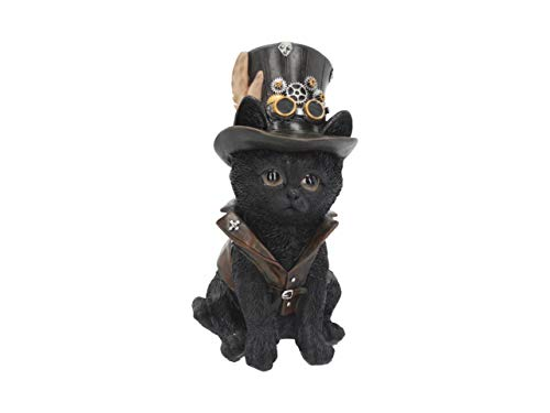Nemesis Steampunk Cogsmiths Cat Ornament - Gothic Mystic Figurine - Stunning Home Decor