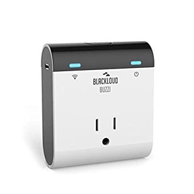 BUZZI Wireless WI-FI Smart Plug, Control Your Electronics From Anywhere with the Home Automation App for iPhone, iPad, iPad Mini, iPod Touch and Android Smartphones and Tablets