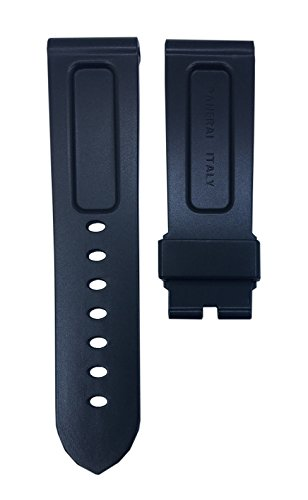Black Diver Watch Strap Replacement Band For Luminor 24mm | Free Spring Bar Tool by WatchBandHouse (Image #1)