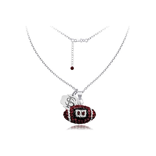 DiamondJewelryNY Silver Pendant, Spirit Football Nk/Florida State -