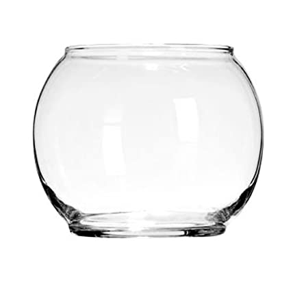 Amazon Round Glass Floral Bowl 4 Wide 3 Home Kitchen