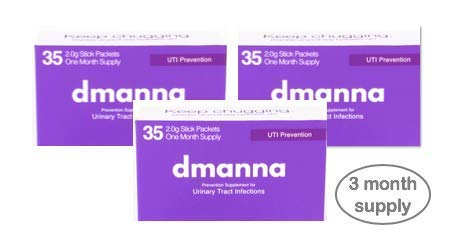 Dmanna: 2000mg D-Mannose Powder Packets, Easy Use D Mannose Packets for Urinary Tract Health. Naturally Stop Your UTI Before It Starts. Comes with 35 Powder Packs. (3 Month Supply) by Dmanna