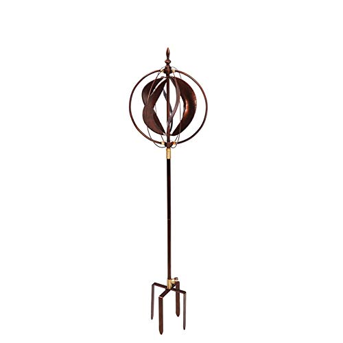Evergreen Garden Copper Sphere 48 inch Metal Hydro Wind Spinner