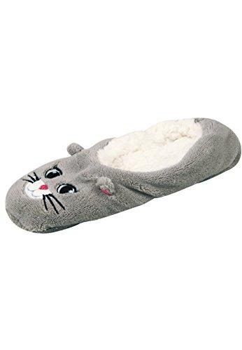 Capelli New York Hausballerinas Fluffy Kitten Grey Combo