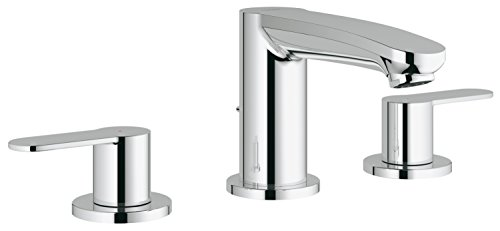 Eurostyle Cosmopolitan 8 in. Widespread 2-Handle Low Arc Bathroom Faucet - Grohe Bathroom Sink