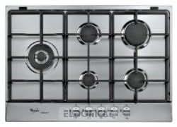 Whirlpool AKR 338/IXL - Placa (Incorporado, Gas, Acero inoxidable, 230V, 50 Hz, 73 cm)