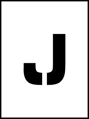 NMC PMC36-J 36''Stencil Letter ''J'', Pack of 5 pcs by National Marker