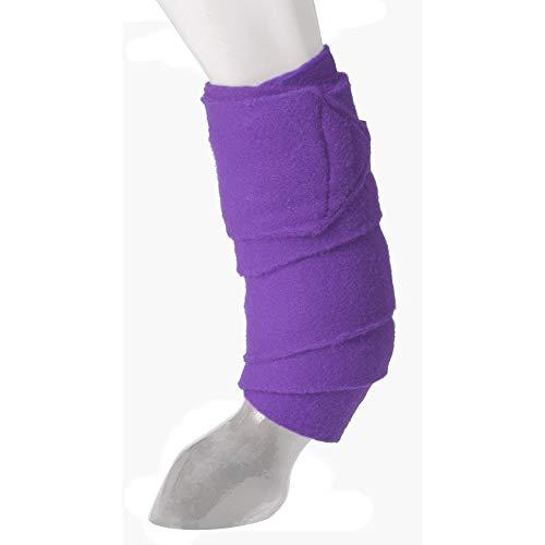 JTI Tough-1 Miniature Pony Purple Show Sheep Goat Thick Fleece Deluxe Polo Leg Wraps ()