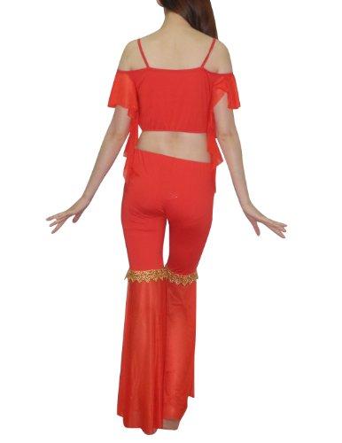 Belly Dance - Enaguas pantalón - para mujer Rosso