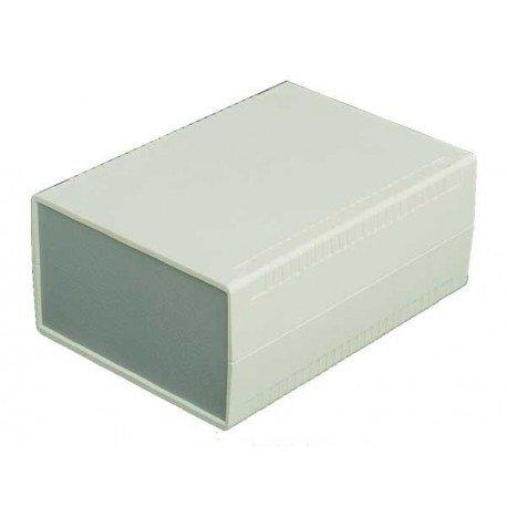7-55//64 Width x 1-9//16 Height x 11-1//64 Depth Gray Finish BUD Industries PC-11469 Plastic Style E Box