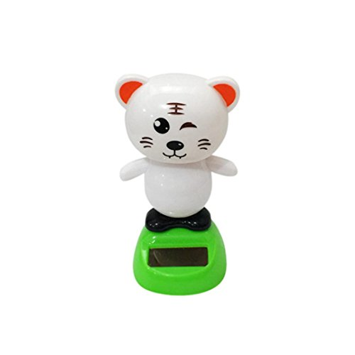 Lisin Solar Powered Dancing Car Decor Animal Swinging Animated Bobble Dancer Toy (A) (Halloween Fire Room Escape Game)