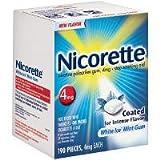 Nicorette White Ice Mint 2 mg. Gum, 190 Pieces