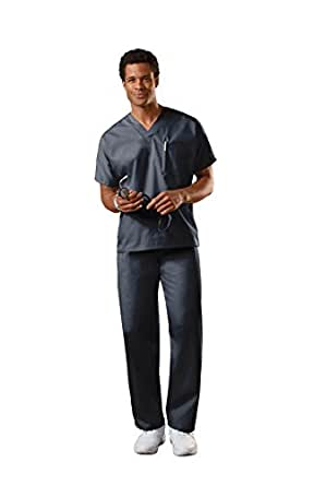 Cherokee Uniforms Authentic Workwear Unisex Scrub Set (Black, XXS)