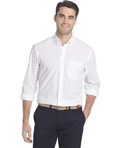 (IZOD Men's Performance Natural Stretch Solid Long Sleeve Shirt (Regular and Slim Fit))