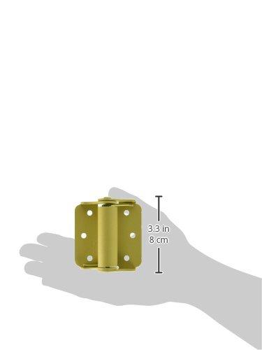 2 pack National Hardware N114-785 V123 Spring Hinges in BakEnamel Brass