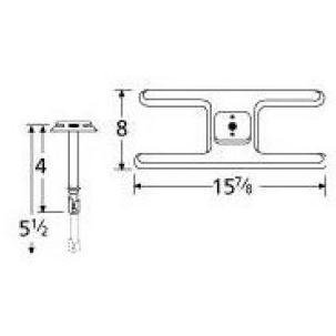 Music City Metals 10101-70201 Stainless Steel Burner Replacement for Select Gas Grill Models by Charbroil, Falcon and - Replacement Grill Falcon Gas