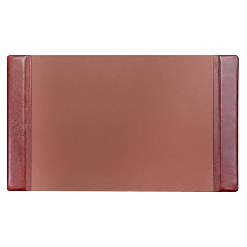 (Dacasso Mocha Leather 34 by 20-Inch Desk Pad with Side Rails)