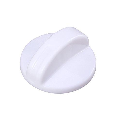 LIOOBO 2PCS Plastic Washer Dryer selector Washing Machine Timer Control knob Universal Switch knob (White)
